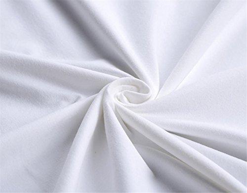 LHWY Herren Boy Plus Size Flag Print t-Shirts Short Sleeve Cotton t-shirt Bluse Tops White