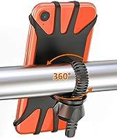 Cocoda Porta Cellulare Bici, Rotabile a 360° Regolabile Universale Silicone Porta Telefono Moto Bici per iPhone 11 Pro...