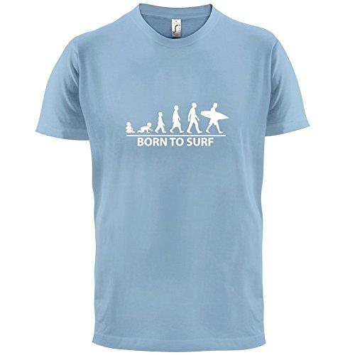 Born To Surf - Herren T-Shirt - 13 Farben Himmelblau