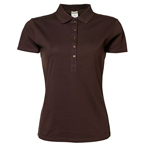 Tee Jays - Polo stretch à manches courtes - Femme Chocolat