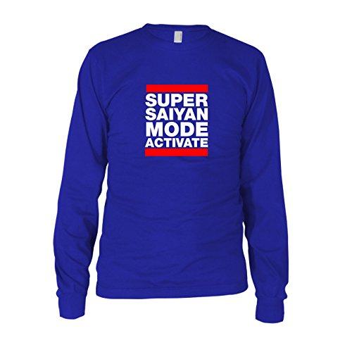 DBZ: Super Saiyan Mode Activate - Herren Langarm T-Shirt Blau