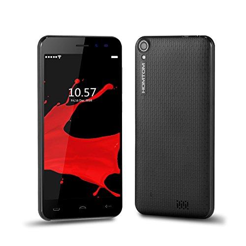 Smartphone Ding Ding C2 (2016) 3G Dual SIM Quad Core Android 6.0 2.5D Bildschirm Smartphone (5.0 Zoll, HD 1280*720 pixels, 8GB ROM+1GB RAM) (Schwarz) Virgin Mobile Bluetooth