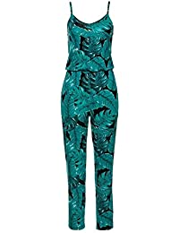 cb2fce8be647 Xuba Summer Jumpsuit Women Bodycon Print Rompers Sexy Spaghetti Strap Long  Playsuit Casual Beach Long Pant