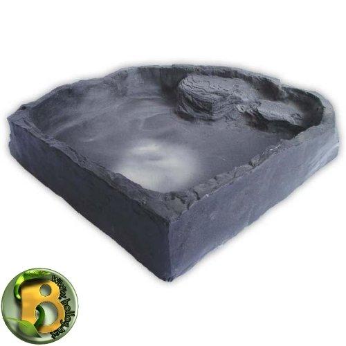 Dragon - Wasserschale - Futternapf - Eckfelsschale XXLarge Granite Rock 3000ml 43x40x8cm -