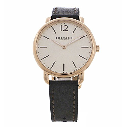 Rose Gold Dial Mens Analog Casual Quartz Coach Watch Delancey 14602347