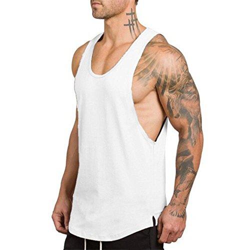 Sports Herren Tanktop MEIbax Fitness Bodybuilding Fitness Muskel Sleeveless Unterhemd T-Shirt Slim Fit Ärmellos Sweatshirt Spitzenweste...