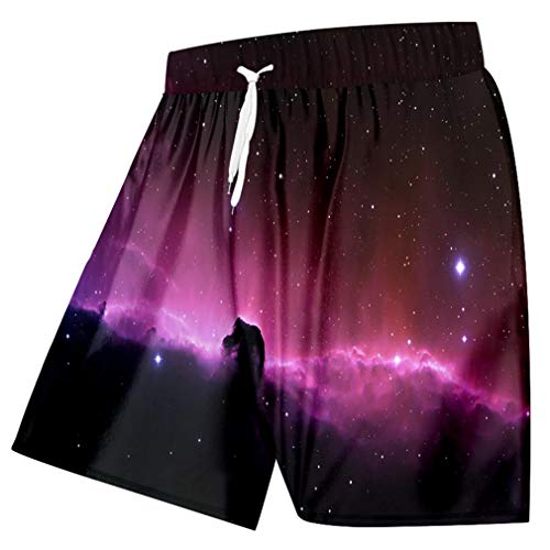 Schwimmen Shorts Männer Kühlen Print Galaxy Space 3D Strand Board Shorts Mann Bermuda Masculina Slim Fit Boxer Trousersping Galaxay Space S