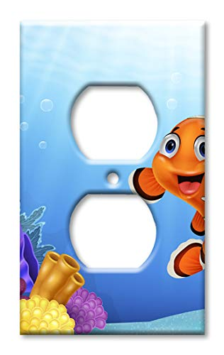 Friendly Clownfisch Wandplatte/Schalterplatte Steckdose Mehrfarbig -