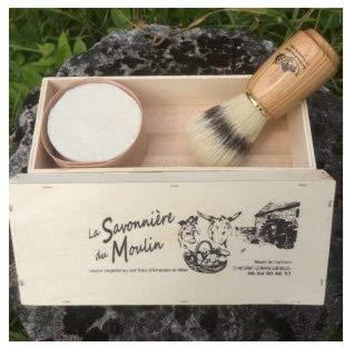 Cofre jabón barba 30% leche burra orgánica - Jabón