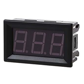 TOOGOO(R) DC 0-99V Afficher 3 fils LED Digital Panneau voltmetre la tension voltmetre Motor Car - VERT