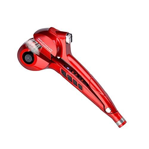 hsy Geführte Digitale automatische Lockenwickler-keramische Dampf-Spray-Haar-Waver-Maschine schnelle Lockenwickler-Locken-Temperaturüberwachung (Color : Red)