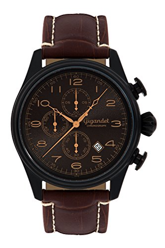 Gigandet G41-005 Men's Watch with Brown Leather Strap