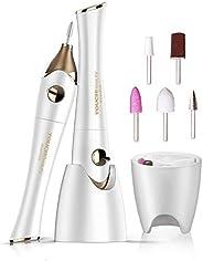 Set Manicure e Pedicure Elettrico,TOUCHBeauty Kit di lime per unghie per Pedicure,Potente Fresa per Unghie con