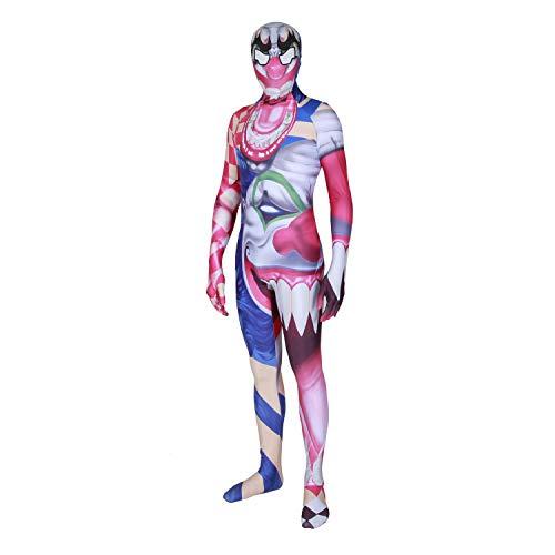 WANLN Halloween-Anzieh-Kleid Halloween-Kostüm Ghost Horror Zombie Men and Women,Rot,M (Ghost Gent Für Erwachsenen Kostüm)