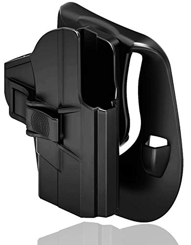 Bedone Smith & Wesson M&P Shield 9Mm/40 Holster, Custom Molded Polymer Outside Waistband Paddle Holster to Fit S&W Mp 9Mm .40, Rh, Black