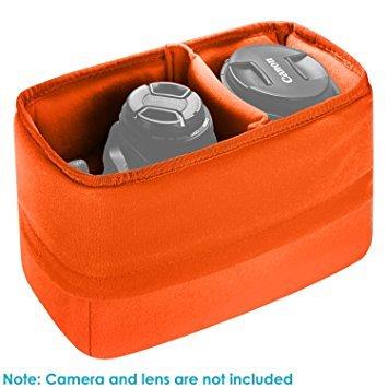 Neewer Supporto antiurto Custodia per fotocamera pieghevole imbottita Borsa partizione depositi protezione per Sony Canon Nikon DSLR di