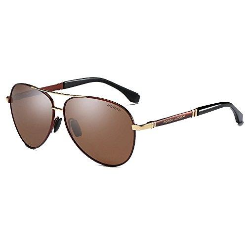 RYRYBH Sonnenbrillen Frosch Brille Männer polarisierte Sonnenbrille Bunte Sonnenbrille Fahrerspiegel Fahren Brille Damen Bikini Sonnenbrille Sonnenbrille (Farbe : Braun, größe : One Size) - Brown Womens Bikini