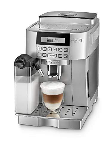 De\'Longhi Magnifica S Cappuccino ECAM 22.366.S Kaffeevollautomat (Digitaldisplay, integriertes Milchsystem, Cappuccino auf Knopfdruck, Herausnehmbare Brühgruppe, 2-Tassen-Funktion) silber