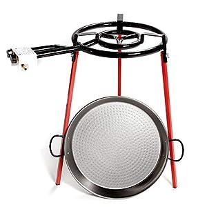 Envio 24horas Vaello La Valenciana 6140 El Ecoset contiene patas soporte cuadradas, paella pulida de 46cm y un quemador…