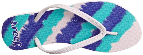 Reef Skinny Recife R1509BTC, Chaussures deau femme Blanc - Weiß (White/Blue/Turquoise)