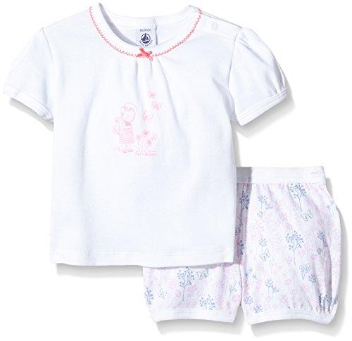 Petit Bateau Baby-Mädchen Unterwäsche-Set Bedroom, Mehrfarbig-Multicolore (Écume/Multico), (Herstellergröße: 6 Monate)