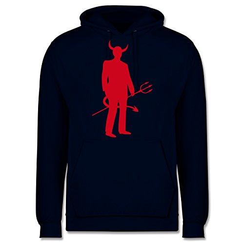 Shirtracer Halloween - Teufel - L - Navy Blau - JH001 - Herren ()
