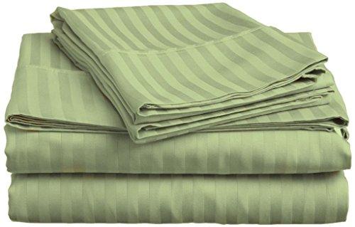 Victoria Bedding ofrece una sábana, sábana bajera y dos fundas de almohada de algodón egipcio 100%, lisas y con un brillo sutil que combina bien con ropa de cama con estampados lisos, de rayas y de animales.Las sábanas están hechas 100% de algodón e...