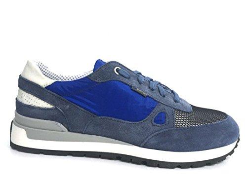 Exton 993 jeans scarpa uomo sneaker running made in italy pelle e tessuto