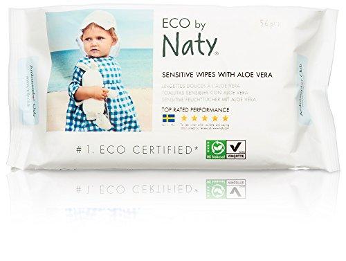 Naty by Nature Babycare Öko Feuchttücher mit Aloe Vera, 12er Pack (12 x 56 Stück)