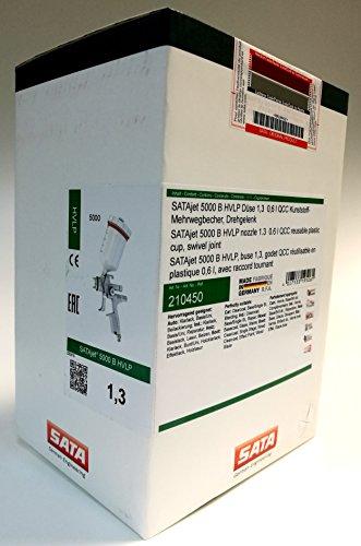 Preisvergleich Produktbild Sata Lackierpistole SATAjet 5000 B HVLP Düse 1,3 0,6 l QCC Kunststoff-Mehrwegbecher, Drehgelenk
