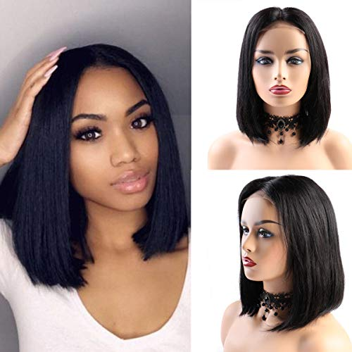 BLISSHAIR Human Hair Wigs Short Bob Wig Glueless Lace
