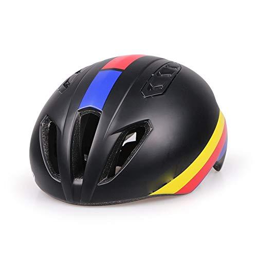 JGWHW Fahrradhelm CE-zertifizierter, Einstellbarer Helm für Erwachsene mit abnehmbarem Visier für Fahrrad-Rennrad-Zyklus BMX (Farbe : Style A) -