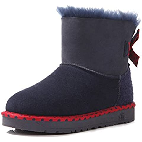 Casual moda pecora pelliccia stivali da neve/ avvio a caldo arco/ manica scarpe da donna/ ispessito e velluto Stivali