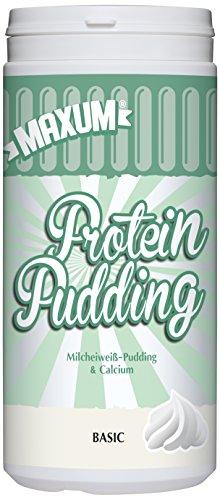 Maxum Protein Pudding Basic - 390 g Milcheiweiß Basis Pudding mit Calcium - 87% Milcheiweiß für Muskelaufbau
