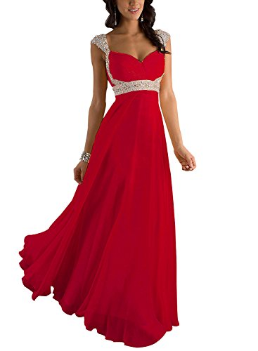 ᐅ Erosebridal Formal Chiffon Lange Brautjungfernkleider Abendkleid ...