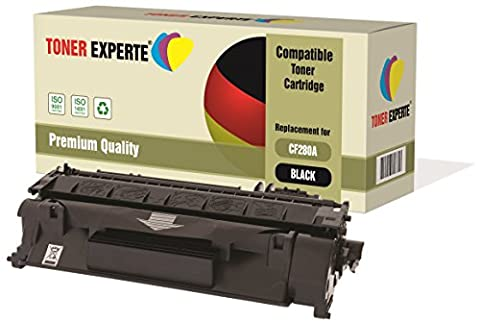 TONER EXPERTE® Compatible with CF280A 80A Premium Toner Cartridge Replacement for HP Laserjet Pro 400 M401A, M401D, M401DN, M401DNE, M401DW, M401N, MFP M425DN, MFP