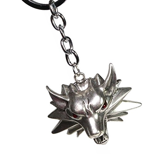 Personalized Exquisit Wolf Totem Cosplay Zubehör Wolf Head Schlüsselanhänger Schmuck (Waren Kostüme Wolf)