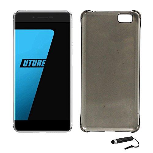 Owbb Hülle für Ulefone Future Smartphone Handyhülle Ultradünne PC Kunststoff-Hard Case mit Backcover Design Hochwertige Anti-Wrestling Function Grau