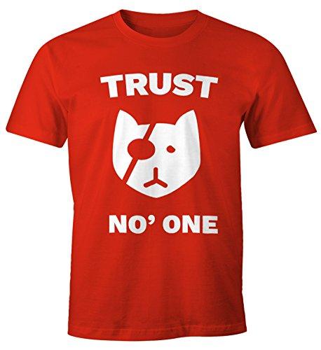 Cooles Herren T-Shirt Trust No One Katze Spruch Fun Shirt Moonworks® Trust  No