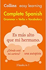 Easy Learning Spanish Complete Grammar, Verbs and Vocabulary (3 books in 1) (Collins Easy Learning Spanish) Paperback