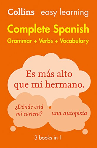 Easy Learning Spanish Complete Grammar, Verbs and Vocabulary (3 books in 1) (Collins Easy Learning Spanish) por Collins Dictionaries