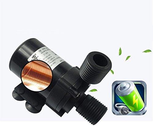 Druckerhöhungspumpe,MiLai Micro DC Drehzahlregelung Wasserpumpe Warmwasserbereiter Druckwasserpumpe JT-660B3-T (12V/2A Netzteil (ohne Wasserpumpe))