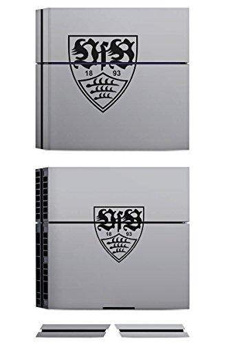Sony Playstation 4 PS4 Folie Skin Sticker aus Vinyl-Folie Aufkleber VfB Stuttgart Fanartikel Fußball