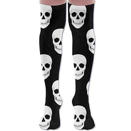 No Soy Como Tu Hohe Socken Halloween Holiday Skull Youth Soccer Socks Teens Knee High Football Socks Long Striped Rugby Tube Socks