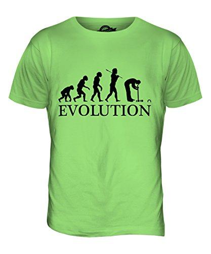 CandyMix Croquet Crocket Evolution Des Menschen Herren T Shirt Limettengrün
