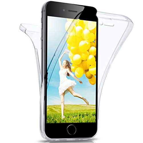 moex iPhone 6S Plus   Hülle Silikon Transparent 360 Grad Double Side Cover Dünne Schutzhülle Slim Handyhülle für iPhone 6 Plus / 6S + Plus Case Transparent Silikonhülle TPU