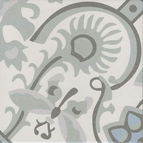 Mediterrane Keramik-Fliesen Ranja 20 x 20 cm 1 qm aus glasiertem Feinsteinzeug in Zementoptik   Bodenfliesen & Wandfliesen als Wand-Dekoration im Bad & Küchenrückwand   Schöne Küche Flur & Badezimmer