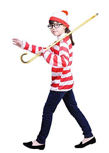 Magic Box Int. Kinder Größe Buch Zeichen Wally Stil Kostüm Kit Small (3-5yrs) (Zeichen Buch Kostüm)