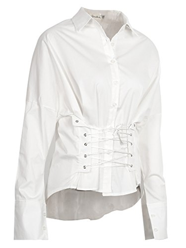 Simplee Apparel - Chemisier - Femme Blanc
