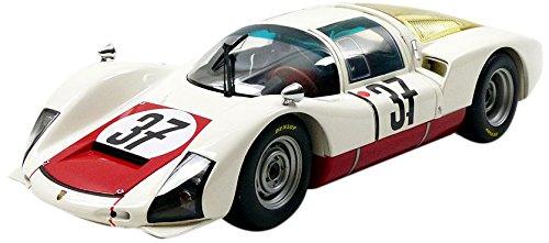 Minichamps–100676137–Fahrzeug Miniatur–Porsche 906K–Class Winner 24h Le Mans–1967, weiß/rot, Maßstab 1/18
